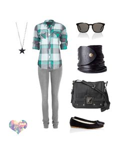 Teal grey and white shirt, grey skinnies, black flats - - Cute Teen Outfits, Tomboy Outfits, Outfits For Teens, Casual Outfits, Casual Clothes, Junior Fashion, Tween Fashion, Cute Fashion, Girl Fashion