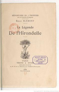 La légende de l'hirondelle / Émile Blémont | Gallica