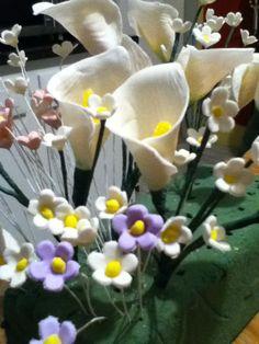sugar paste flowers a work in progress.