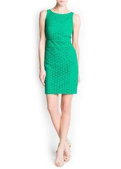 Cotton guipure dress