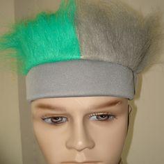 灰色头带+灰色毛和绿色毛