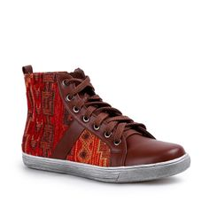 Aw 2014, Ethnic Print, Mountain Hiking, High Tops, Trainers, High Top Sneakers, Autumn, Brown, Winter