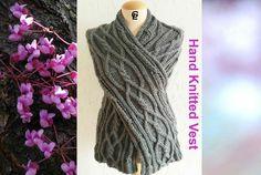 Giezen wrap up Crossed Vest Hand-knit by Giezen on Etsy