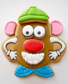 WIth cookie parts, the kiddos can design their own Mr. Potato Head!!