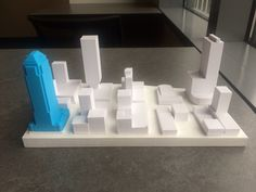 Our designers work on a 3D scale model of Seattle using our MakerBot Printer