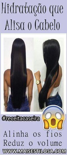 HIDRATAÇÃO QUE ALISA OS CABELOS: Alinha os fios e dá um super brilho. #hidratação #hidrataçãocaseira #hidrataçãoquealisa #hair #receitacaseira #dicas #dicasdecabelo #natural #natureba #dicasdebeleza #projetorapunzel #longhair #diy #facavocemesma #beauty #hair #homemade