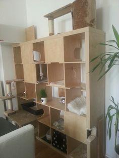 Aus einem Expedit Regal von Ikea einen individuellen Kratzbaum bauen!