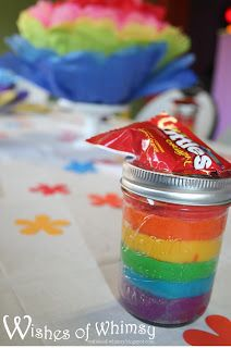 party favors, rainbow homemade playdoh in a jam jar