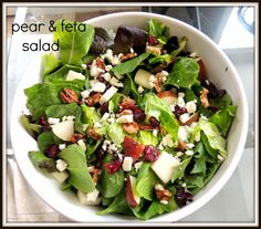 A Pinch of Chaos: Pear & Feta Salad with Red Wine Poppy Seed Dressing