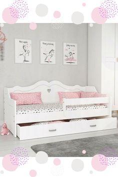Wenn Ihr Kind zu groß für das #Babybett ist, wirde es Zeit für ein richtiges #Kinderbett!  Unser #Bett eignet sich ideal für kleine #Mädchen! Das Bett wurde aus #Kiefernholz und MDF-Platte gefertigt.   #Bett #Babybett #Kinderbett #Jugendbett #BettmitLattenrost #BettmitMatratze Toddler Bed, Furniture, Home Decor, Bed Mattress, Baby Girls, Child Bed, Decoration Home, Room Decor, Home Furniture