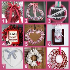 9 Valentine Wreath Ideas