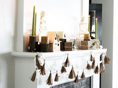 Holiday Mantel Inspiration: Natural Textures and Modern Design by@Merrypad on Made + Remade