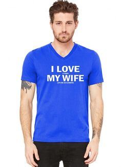 i love it when my wife lets go climbing 1 V-Neck Tee