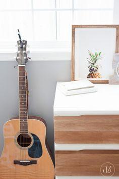 DIY Balsa Wood Dresser Update // Dwell Beautiful