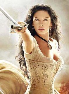 Catherine Zeta-Jones as Elena de la Vega in The Mask of Zorro, 2005