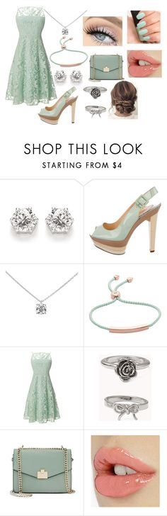 """""""summer dress"""" by sophie-swan ❤ liked on Polyvore featuring Christian Louboutin, Tiffany & Co., Monica Vinader, Nanette Lepore, Forever 21, GET LOST, Jennifer Lopez and NARS Cosmetics"""