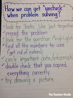 "Helping students realize that they can get themselves ""unstuck"" while problem solving!  Stop by and check out today's blog post!"