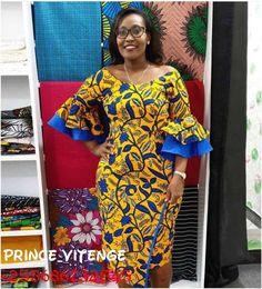 Pretty Ankara Gowns Styles for Women African Wear Dresses, Ankara Dress Styles, African Fashion Ankara, Latest African Fashion Dresses, African Print Fashion, African Attire, Ankara Gowns, African Print Dress Designs, Ankara Designs