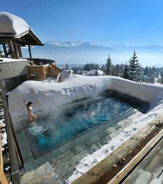 Awesome ski resort in the alps…