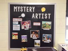 Art Bulletin Boards, Art Boards, Art Classroom, Classroom Ideas, High School Art, Art Life, Art Lessons Elementary, Library Displays, Arts Ed