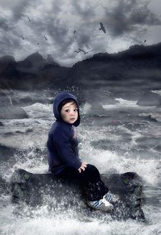 Boy n Sea by Raphael Perovano