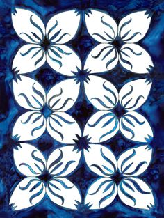 Pacifica Flower Tiles, Britt Browne