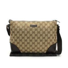 GUCCI GG Canvas Cross body bags Beige Canvas 114273