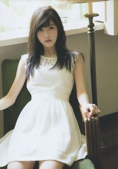 久保史緒里 Cute Asian Girls, Beautiful Asian Girls, Cute Girls, Japanese Beauty, Japanese Girl, Vietnamese Dress, Kawaii Girl, Pink Ladies, White Dress