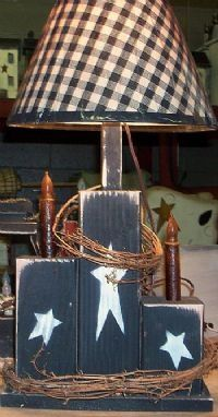 primitive lamp pictures | Another cute primitive lamp base
