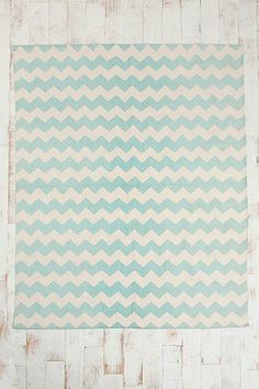 8x10 blue Zigzag Rug from Urban Outfitters comes in yellow and in gray