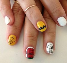 Snoopy / Charlie Brown nails