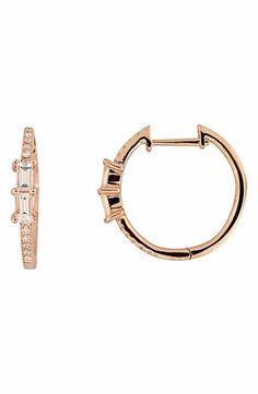 Bony Levy Diamond Hoop Earrings (Nordstrom Exclusive)