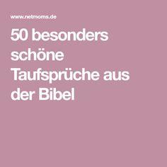 50 besonders schöne Taufsprüche aus der Bibel