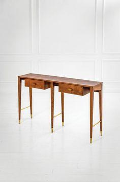 Ash and Brass Console, Living Furniture, Home Decor Furniture, Sofa Furniture, Vintage Furniture, Modern Furniture, Furniture Design, Gio Ponti, Desk Inspiration, Furniture Inspiration
