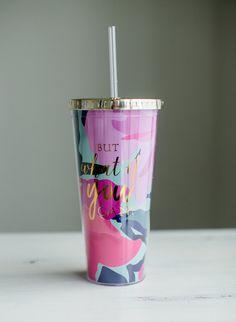 Drinking Water Bottle, Cute Water Bottles, Drink Bottles, Copo Starbucks, Starbucks Mugs, Cup With Straw, Tumbler With Straw, Tumblr Cup, Cute Cups