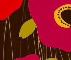 Poppies fabric by friztin on Spoonflower - custom fabric