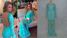Buy Cobalt Blue Appliqued Prom Dresses Fashion Women Backless Long Sleeves Beteau Neckline Evening Gowns Floor Length Delicate Lace Celebrity Gowns 2015 at Wish - Shopping Made Fun Blue Lace Prom Dress, Mermaid Prom Dresses Lace, Open Back Prom Dresses, Long Sleeve Evening Dresses, Prom Dresses 2015, Prom Dresses Long With Sleeves, Plus Size Prom Dresses, Backless Prom Dresses, Formal Evening Dresses