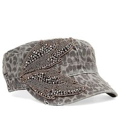 a1d377c092a Olive   Pique Military Hat - Women s Accessories in Grey Black