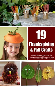 19 Thanksgiving & Fall Crafts for kids by Allie of @Dreamalittlebigger