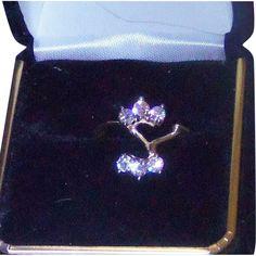 Vintage 1950's Designer AM-G 14 Karat Yellow Gold .60 carat Diamond from odditiesandantiquites on Ruby Lane