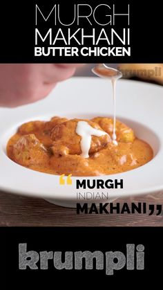 Murgh Makhani AKA Butter Chicken is a modern classic Indian dish that serves marinated and grilled chicken in a rich spiced tomato sauce! Curry Recipes, Snack Recipes, Cooking Recipes, Rice Recipes, Cooking Tips, Indian Food Recipes, Asian Recipes, Butter Chicken Sauce, Tapas