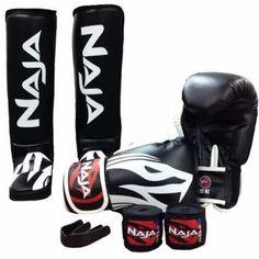 6c47d7c3d Kit Muay Thai Boxe Naja Extreme Luva+protetor Bucal+bandagem