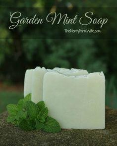 Garden Mint Soap Cold Process Soap Recipe (palm free)