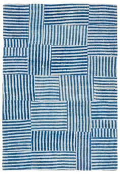 Just think, not-too-narrow stripes from worn men's shirts from the thrift shop. Broken link to an item for sale, called Gherardo, at the ABC Carpet and Home site. Via the great tumblr, Quilter's Pastiche