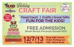 Craft Fair this Saturday, December 7th