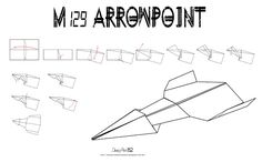 Avión de papel M-129 ArrowPoint | Do it your paper airplane!!