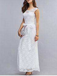White Dress In Lace Dresses Cheap Wholesale Online Sale   Sammydress.com