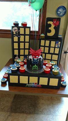 decoracao festa pj masks pj masks party decoration, pj masks party decorations for a girl Pj Masks Birthday Cake, Superhero Birthday Party, 4th Birthday Parties, Birthday Ideas, Pj Mask Party Decorations, Birthday Decorations, Decoration Party, Pjmask Party, Party Ideas