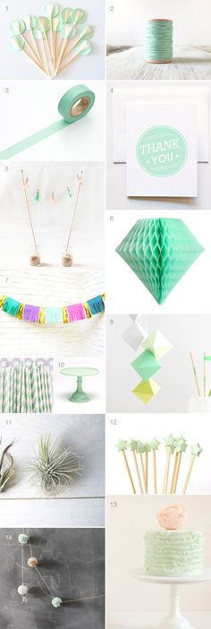 Mint party decorations - 100 Layer Cakelet