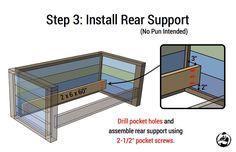 DIY Planked Wood Loveseat Plans - Step 3